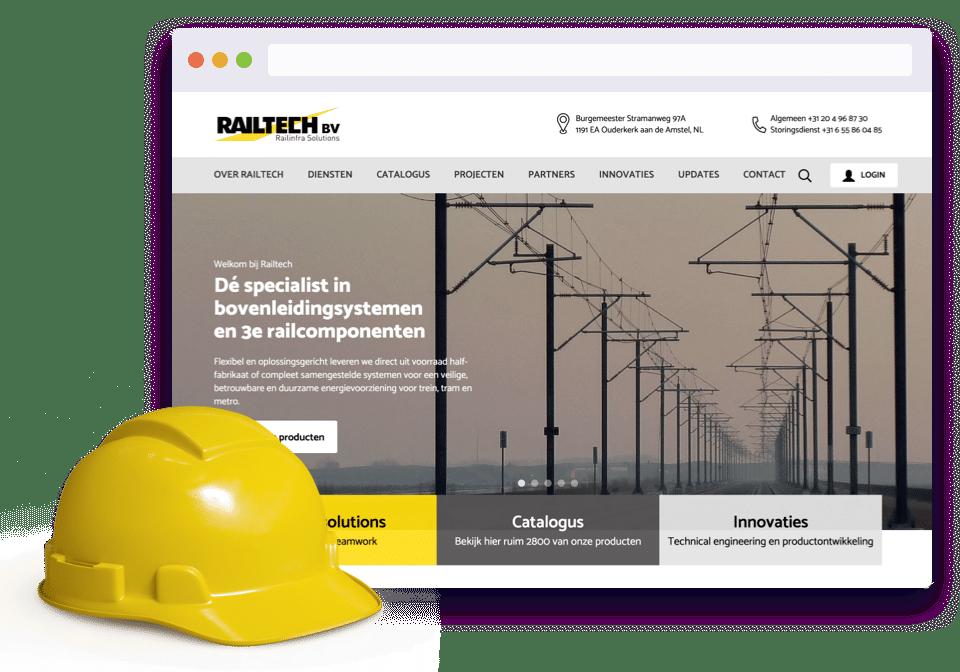 Railtech product desktop